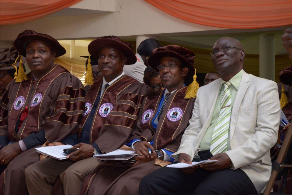 Faculty Deans with Prof. Olagunju